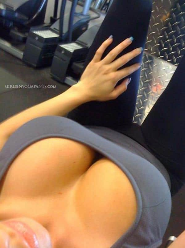 yoga pants gym nude