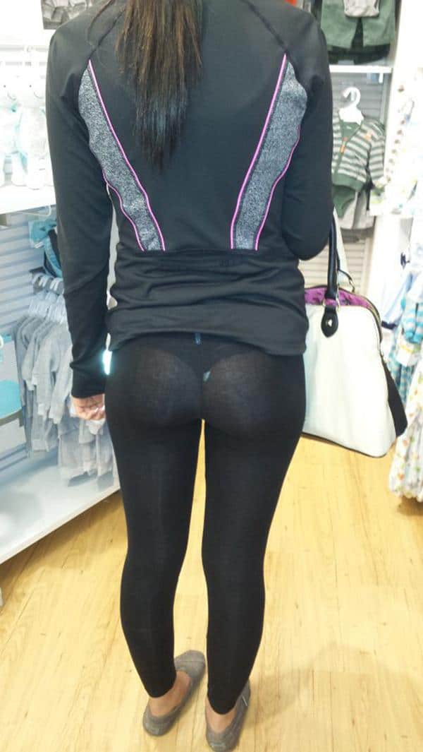SHOPPING IN SEE-THROUGH YOGA PANTS