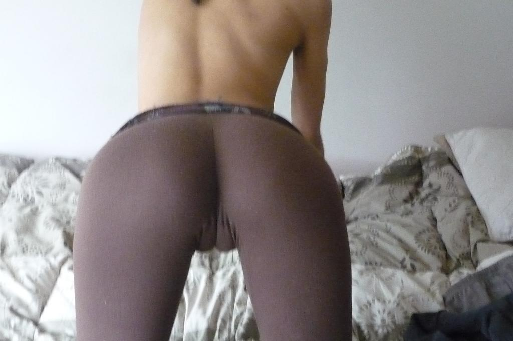 Camel toe from behind