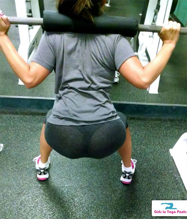 Working On Her Booty At The Gym