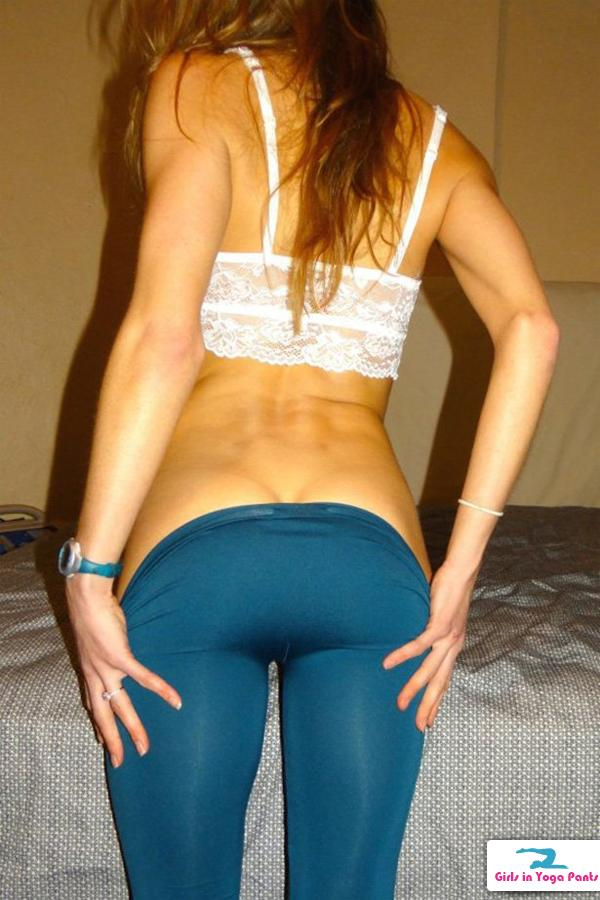 Her pants girl yoga pulling down