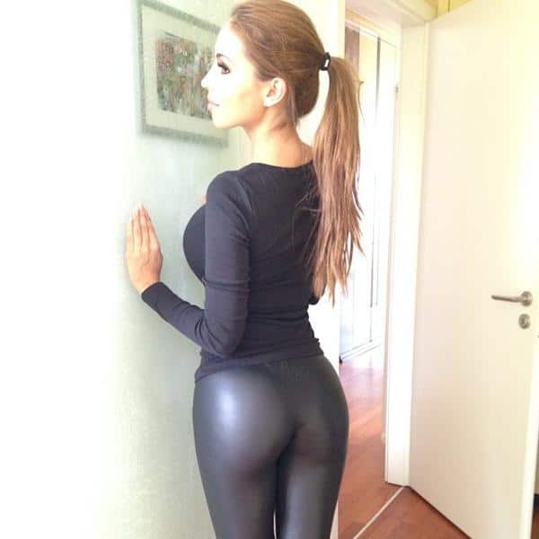 MILFY in leather pants