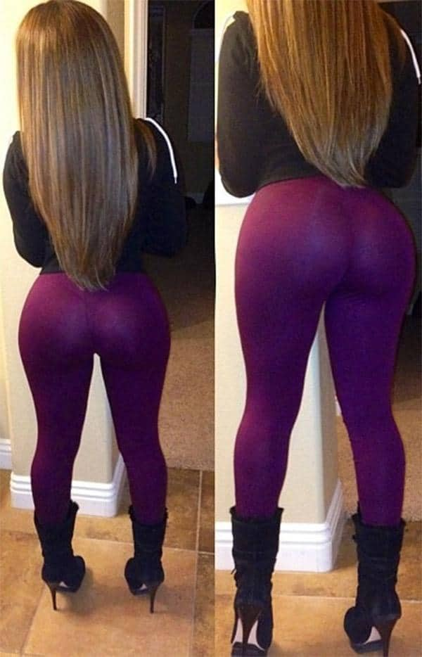 very nicelyshaped booty in purple yoga pants girls in