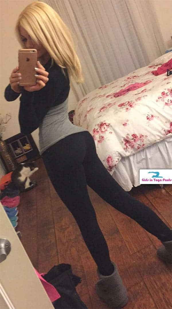 cleaning-her-apartment-in-yoga-pants-and-uggs