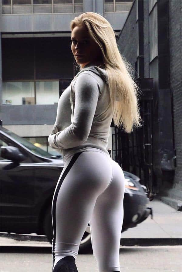 The Amazing Anna Nystrom In White Yoga Pants - Girls In -8910