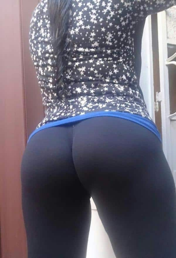 Yoga pants in very tight girls