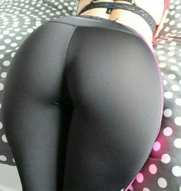 bent-over-the-bed-grey-yoga-pants