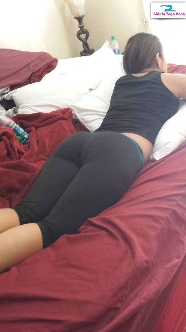 Hot girl laying in bed