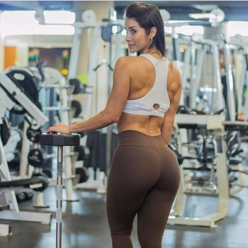 brown sport leggings