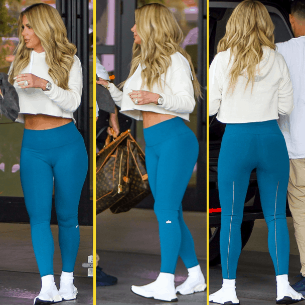 kim zolciak yoga pants