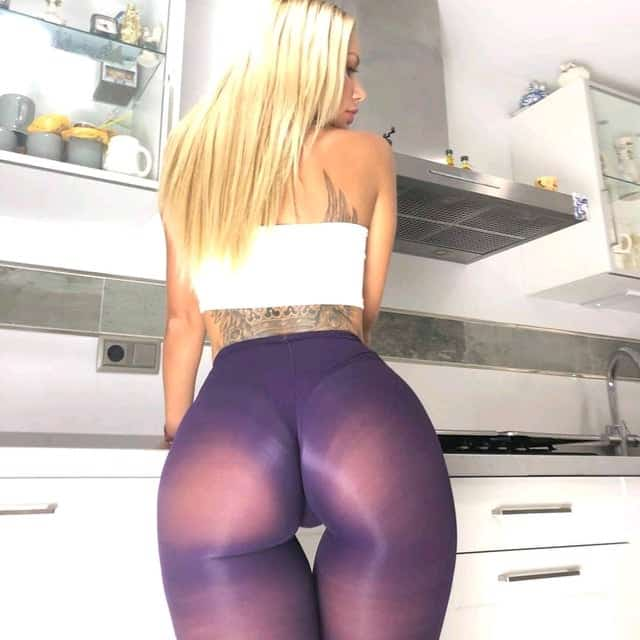 See Through Purple Leggings