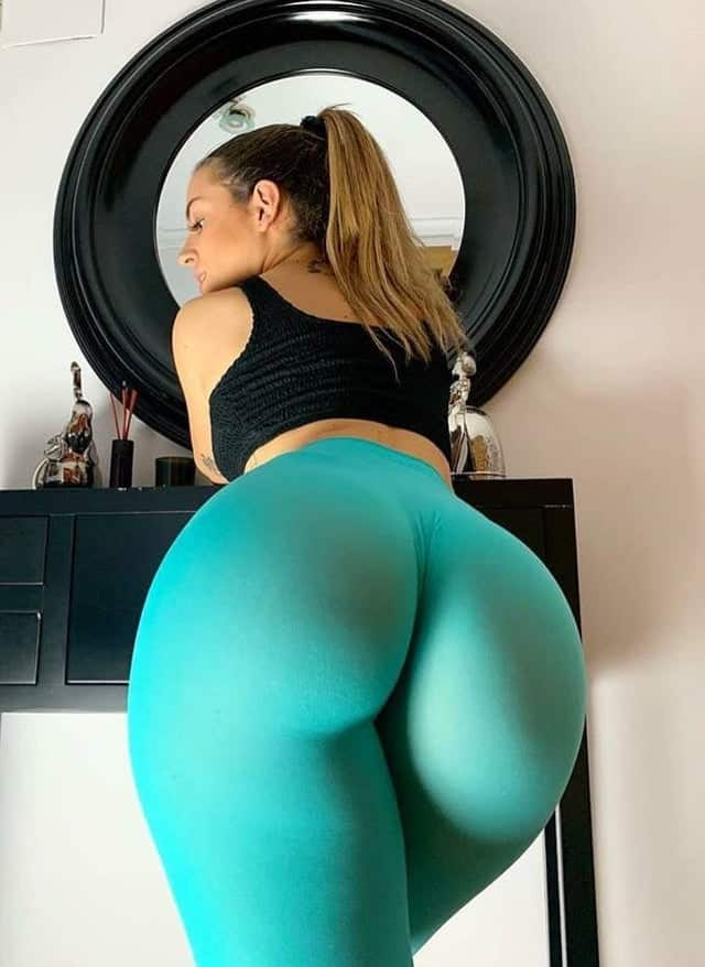 Teal Yoga Pants Big Booty